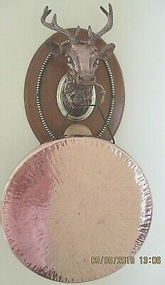 Tonks Stags Head wall hung dinner gong c 1900