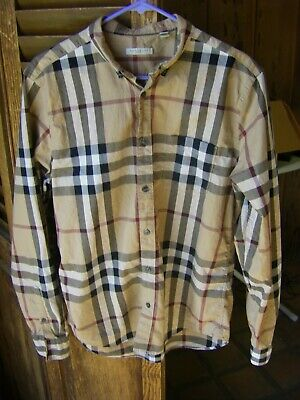 86437d2ddfc Burberry Brit L/S Button Front Shirt Large EUC apart from some Light Bleach  Stai