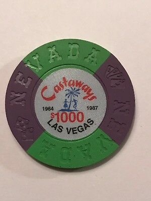 Castaways 1000 Borland Commemorative Souvenir Casino chip Las Vegas uncirculated