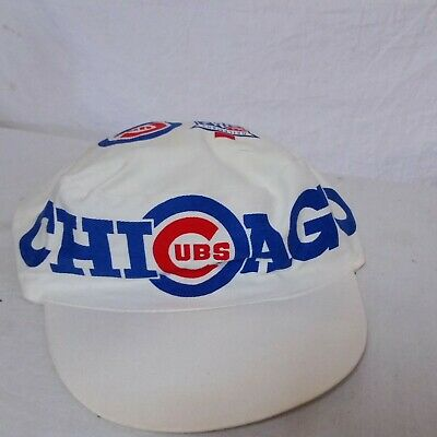2f9c0b137519a VTG Chicago Cubs Pillbox Painters Hat MLB Old Style Cap Baseball Fitted 80s