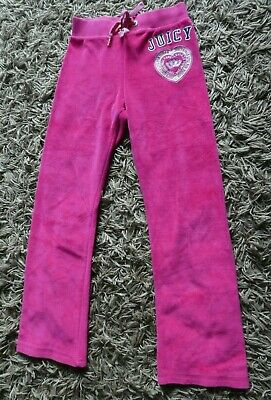 Designer 💜  Juicy Couture 💜  Pink Velour Jogging Trousers Age 10 L Large