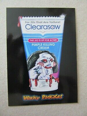 Jigsaw Sticker, Wacky Packages Go To The Movies, Topps, Saw, Horror, Clearasaw