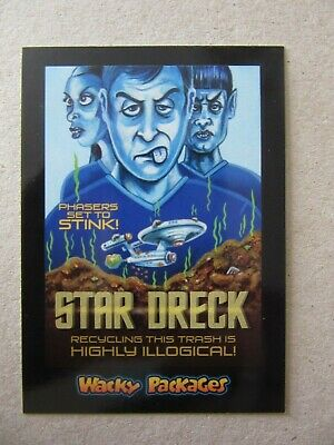 Star Trek Sticker, Wacky Packages Go To The Movies, Topps, Star Dreck, Kirk