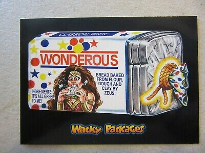 Wonder Woman Sticker, Wacky Packages Go To The Movies, Topps, DC, Gal Godot