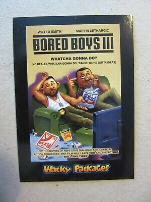 Bad Boys 3 Sticker, Wacky Packages Go To The Movies, Bored Boys III, Will Smith