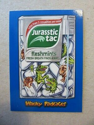 Wacky Packages Go To The Movies, Jurassic Park Sticker, Topps, Velociraptor