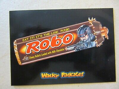 Robocop Sticker, Topps Wacky Packages Go To The Movies, Robo Chewy Bullets, Cult