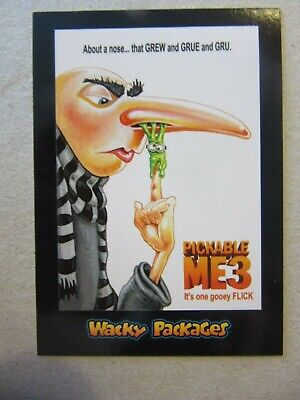 Despicable Me Sticker, Topps Wacky Packages Go To The Movies, Minions, Gru,