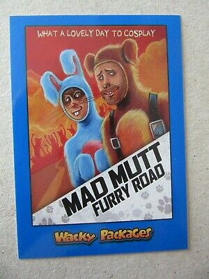 Wacky Packages Go To The Movies, Mad Max Sticker, Topps Blue Parallel, Fury Road