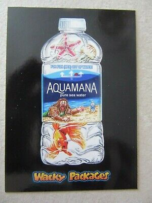 Aquaman Sticker, Wacky Packages Go To The Movies, Topps, Jason Momoa, DC Comics