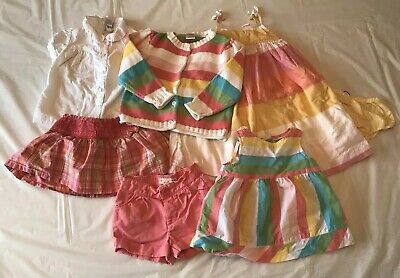 625d65bf187f Lot Baby Girl Clothes Sz 18 24M Gymboree Gap Striped Summer Dress Skirt  Cardigan