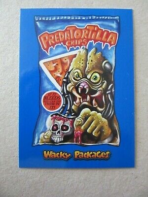 Wacky Packages Go To The Movies, Predator Sticker, Topps Chase Parallel Card, #7