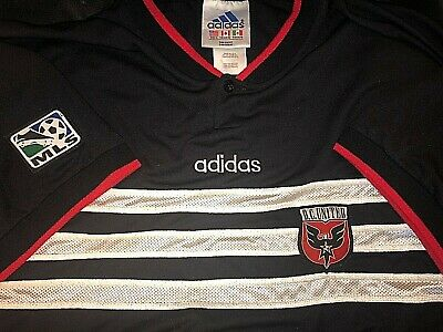 303111c7d9 L EUC 1996 vtg ADIDAS DC UNITED SOCCER JERSEY MLS SHIRT D.C. USA WASHINGTON  RARE