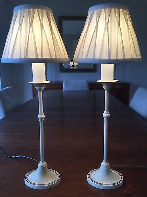 Pair of Vintage Solid Brass Laura Ashley Country Style Bedside /Fireplace Lamps