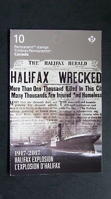 canada 2017 booklet Commemorate the 100th anniversary  Halifax Explosion