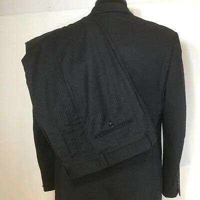 first rate 4a2f2 f0930 DONNA KARAN /ITALY Mens Blue PURE WOOL 3 Button No Vent ...