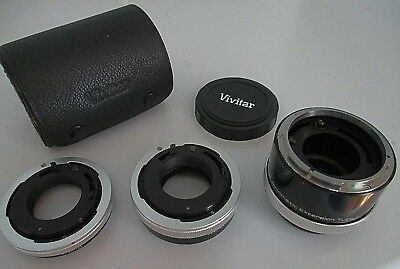 Vivitar Automatic Extension Tube Ring Set: 12Mm, 20Mm, 36Mm - Canon Fl-Fd At-4