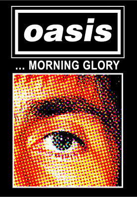 "0769 Vintage Music Poster Art - Oasis ""Morning Glory"""