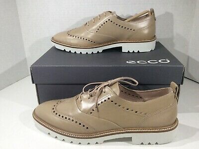133c163a4c0b5 ECCO Womens Incise Tailored Brown Wingtip Oxfords Shoes Sz 8 - 8.5 YC-1032