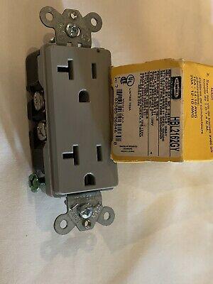 HUBBELL HBL2162GY NOS STYLE LINE 21 GREY RECEPTACLE 20A 125V2P3W6-20R Lot 3