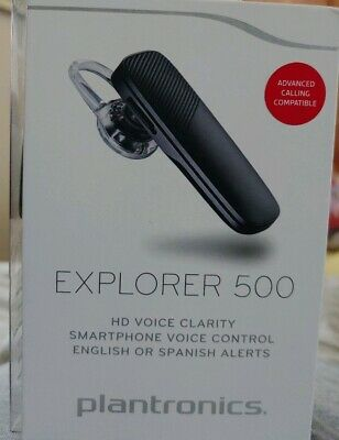 b7c4e2d048a Plantronics Explorer 500 MITE15 HD Bluetooth Headset Black; BRAND  NEW--SEALED