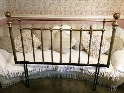 Victorian Style, Brass Double Bed Headboard, Very Good Condition,Marks & Spencer