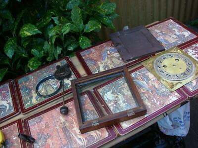 Vintage Parts Dial , doors  For Mantle Clock  Just  parts for Spare or Repair