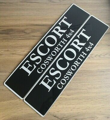Pair Of Escort RS Cosworth Show Number Plates