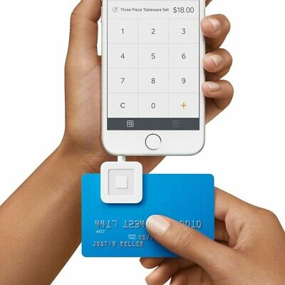 Square A-PKG-0206-01 Credit Debit Card Reader - White for Apple iPhone and Andr…