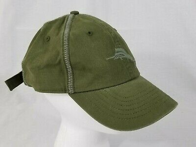 67662eff5 Tommy Bahama Relax Army Green Embroidered Marlin Adjustable Baseball Hat Cap