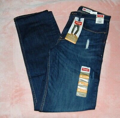 21ef20bb WRANGLER MEN'S STRAIGHT Fit Jeans - 4 Way Flex For Comfort 38x30 New ...