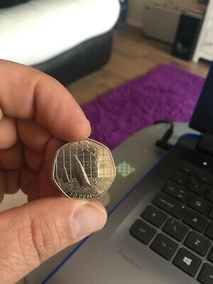 """2011 - LONDON 2012 OLYMPIC GAMES """"Saling"""" 50p COIN"""