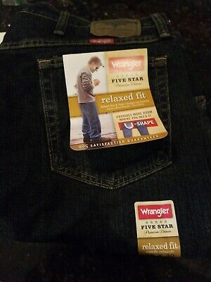 9ed3ad60 WRANGLER 5 STAR Relaxed Fit Jean Men's - Size Big and Tall - $31.99 ...