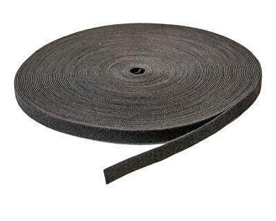 "1/2"" Inch Roll Hook and Loop Reusable Cable Ties Straps 25M 82ft 10 Pack"