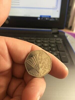 """2011 - LONDON 2012 OLYMPIC GAMES Badminton"""""""" 50p COIN"""