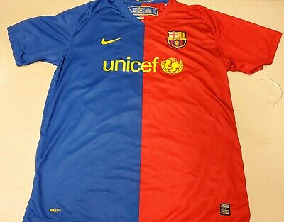 new arrival 78ce1 c811f 2008-2009 NIKE AUTHENTIC FC Barcelona FCB Jersey Shirt Kit Messi Argentina  XL