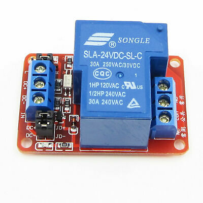 Usa! 2 Pcs 1 Channel 24Vdc 30 Amp High/Low Level Input Optocoupler Relay Board