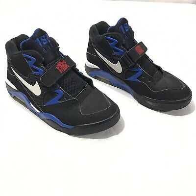 buy popular a2c8e 43020 Nike Air Force 180 OG Black Sport Royal 310095-011 Barkley Multi Size 8