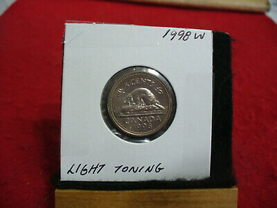 1998 W  Canada  1  Nickel 5 Cents  Coin  Proof Like Sealed  98W  High  Grade