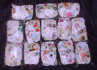 Bag Worldwide Stamps Mint&Used off paper,between 500 & 700 stamps (75gms to 110)