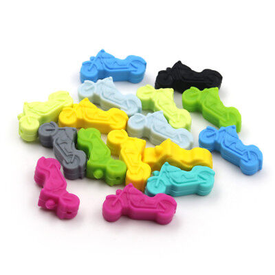 Safe Motorcycle Silicone Beads BPA Free Baby Teething Chewable Teether DIY Toys