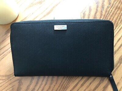 1b0dd9cebad0 KATE SPADE NEW York Wallet Travel Laurel Way Kaden Dusty Peony NEW ...