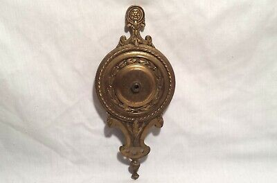 Antique Vintage Cast Metal Wall Light Sconce Ornate Back Plate Fixture