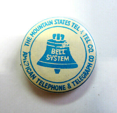 Vintage Bell System Mountain States Telephone & Telegraph with No. 21 Bell Logo