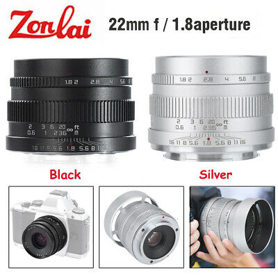 Zonlai 22mm F1.8 Wide Angle Manual Focus Lens for Sony E-Mount APS-C Mirrorless