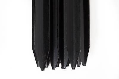 Star Pickets - Various Sizes - Black Bitumen Coated Not Painted -Packs Of 10.