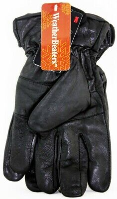 Weather Beaters Men's Leather Dress Gloves With Thinsulate Authentic 3-Seam New