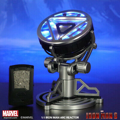 HOT Iron Man MK XLII Roan 1/1 METAL LED Remote Control Arc Reactor For Cosplay