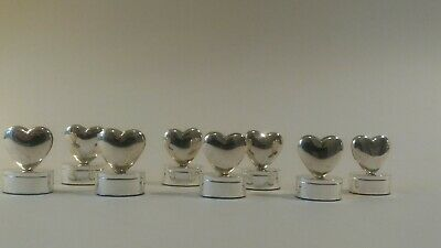 """8 vintage place/name card holder settings """"LOVE HEARTS"""""""
