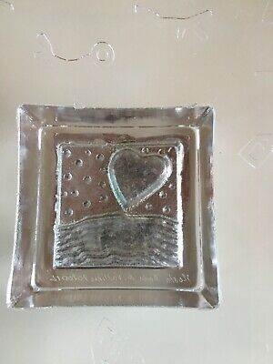 Kosta Boda Bertil Vallien Frosted Heart Dish perfect condition